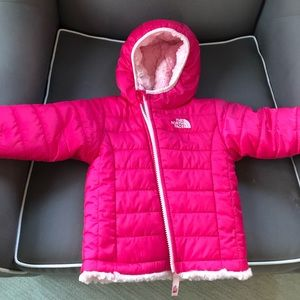 The Northface reversible winter coat Size 6-12mo